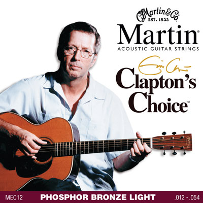 Martin Clapton's Choice 92/8 Phosphor Bronze Acoustic Strings MEC12
